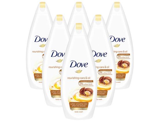 6x Dove Shower Nourish Oil Care