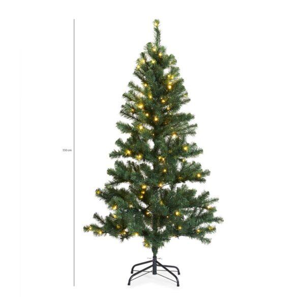 Kunstkerstboom met 120 LED Lampjes   Kies uit een variant van 120 of 150 cm hoogte
