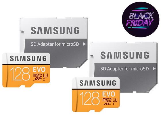 2x Samsung 128 GB microSD