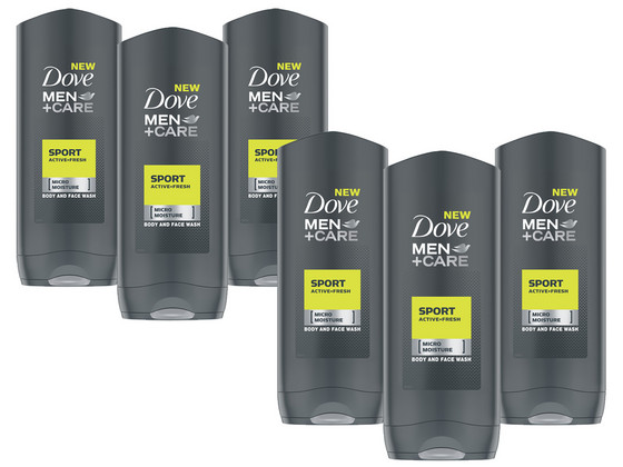 Dove Men Shower | 6x 400 ml