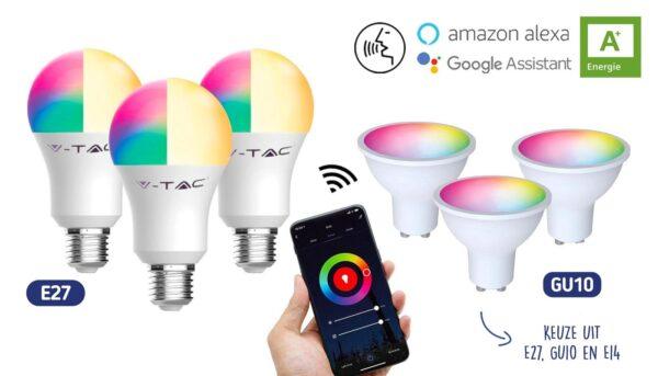 Energiezuinige LED Wifi Smart Lampen   Keuze uit E14