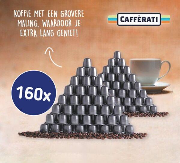 80- of 160-PACK Nespresso Lungo of Espresso Koffiecups van Caffèrati | Intense aroma én een heerlijke smaak