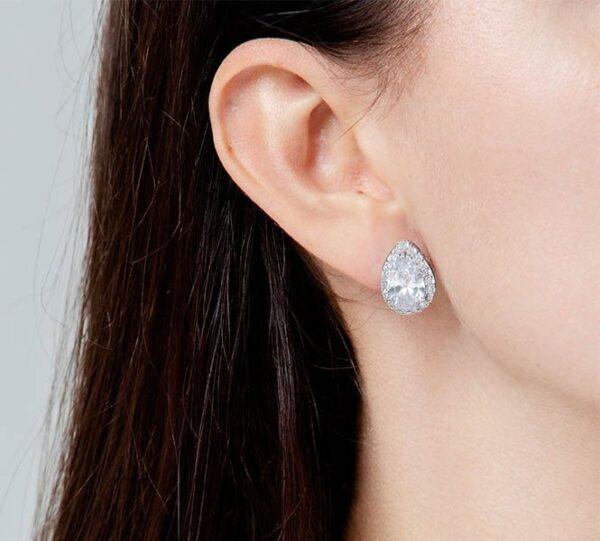 Luxe Sieradenset Silver | Matchende Oorstekers én Ketting