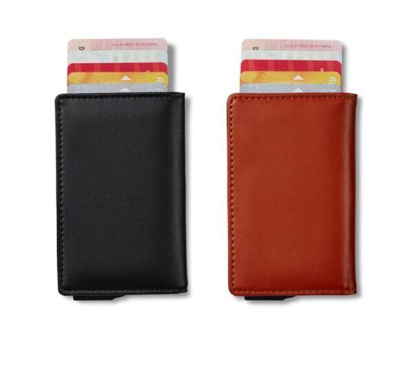 Buffellederen Smart Wallet Pasjeshouder met RFID Protectie | Praktisch en veilig
