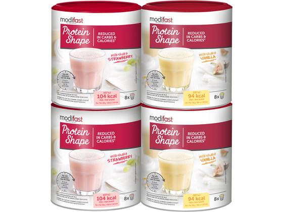 4x Modifast Milkshake   Vanille & Aardbei