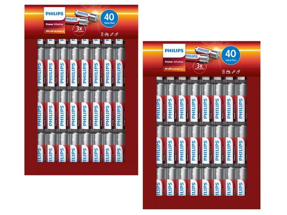 Philips Power Alkaline (40x AA + 40x AAA)