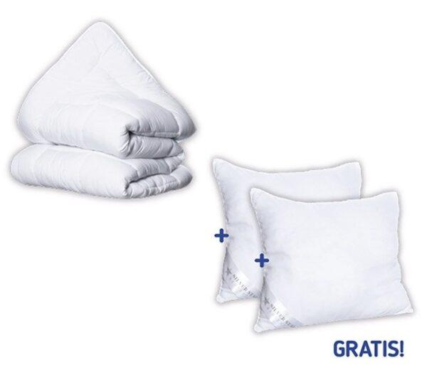 Winter-/ All-Season Dekbed + 2 GRATIS Hoofdkussens t.w.v. € 79
